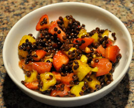 lentil fruit salad