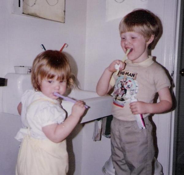 tootbrush with Hannah