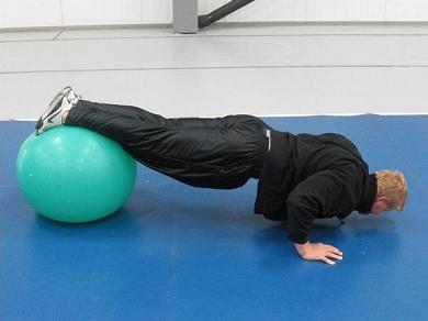 body weight swiss ball push up for carson city personal training blog