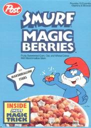 smurf magic berries cereal