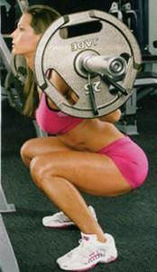 girl squat legs