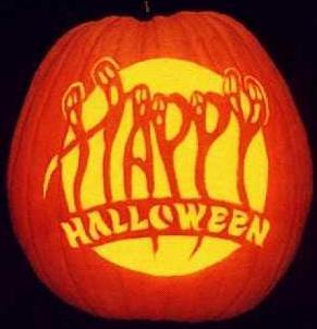 happy halloween pumpkin ghosts