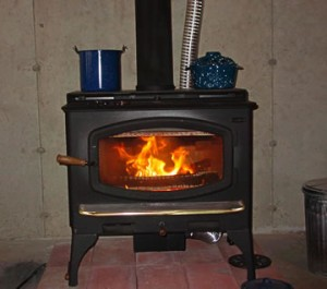 wood stove kettle