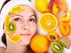 fruit on face