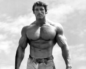 Arnold Schwarzenegger in jeans