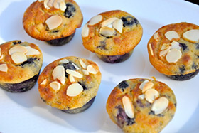 almond blueberry muffin