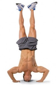 bottom handstand pushup