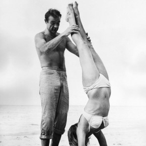 james bond partner handstand