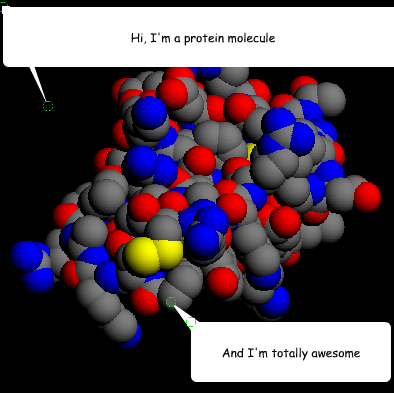 protein molecule is awesome