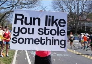 run like thief sign 5k