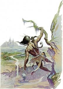 Tarzan climbing