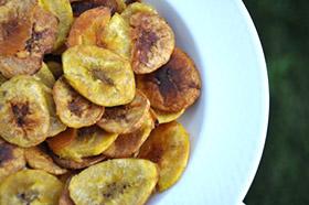 baked plantain crisps chips